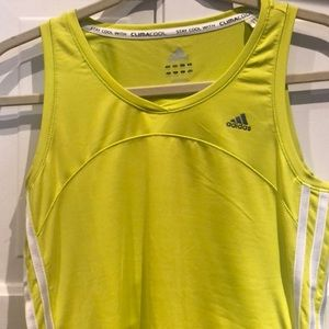 Lime green clima cool adidas top